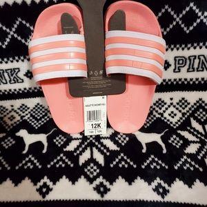 Adidas Pink Toddler Slides Size 13 Nwt